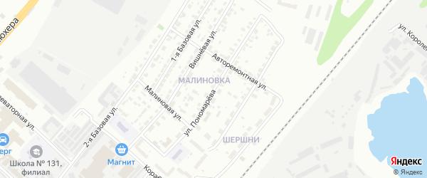 Улица Пономарева на карте Челябинска с номерами домов