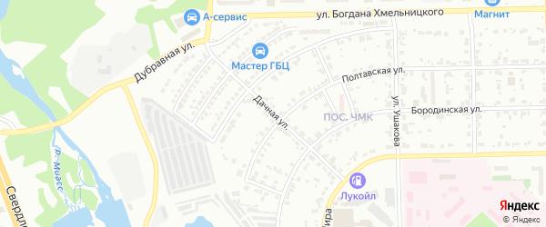 Сад СНТ Уралец Дачная ул на карте Челябинска с номерами домов