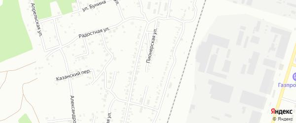Улица Пионерская (Новосинеглазово) на карте Челябинска с номерами домов
