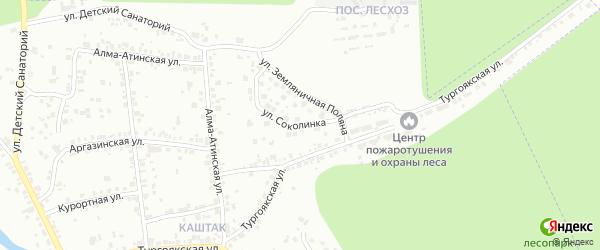 Улица Соколинка на карте Челябинска с номерами домов