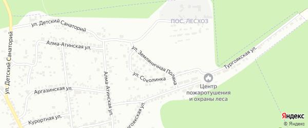 Улица Земляничная поляна на карте Челябинска с номерами домов