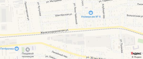 Железнодорожная улица на карте поселка Саксана разъезда с номерами домов