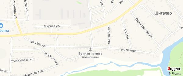 Преображенский переулок на карте деревни Шигаево с номерами домов