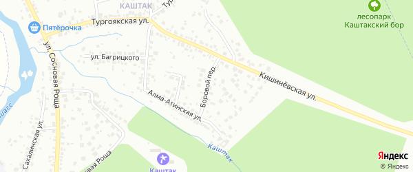 Боровой переулок на карте Челябинска с номерами домов