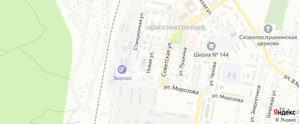 Сад СНТ Уралец Новая ул на карте Челябинска с номерами домов