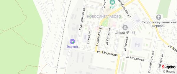 Улица Новая (Сухомесово) на карте Челябинска с номерами домов