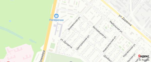 Светлая улица на карте Челябинска с номерами домов