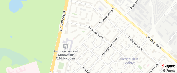 Знаменская улица на карте Челябинска с номерами домов