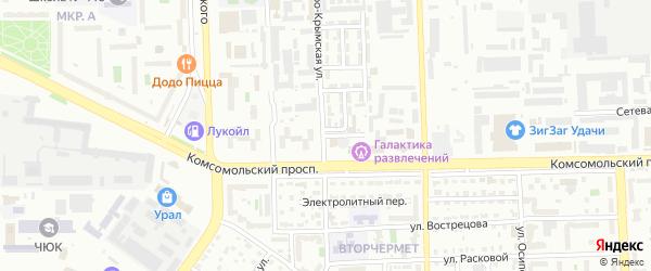 Свинцовый 3-й переулок на карте Челябинска с номерами домов