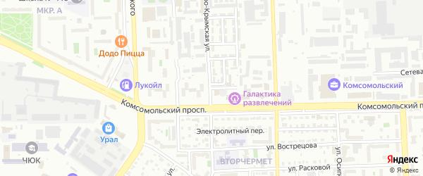 Обдорский 3-й переулок на карте Челябинска с номерами домов