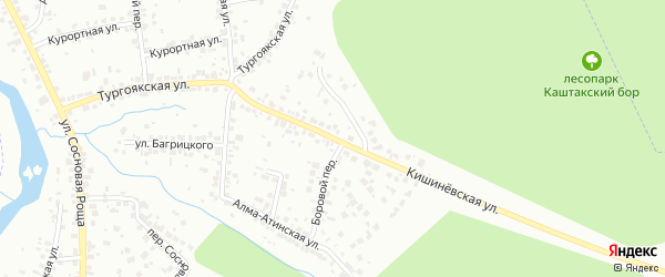 Кишиневская улица на карте Челябинска с номерами домов