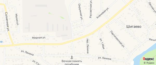 Кленовая улица на карте Долгодеревенского села с номерами домов