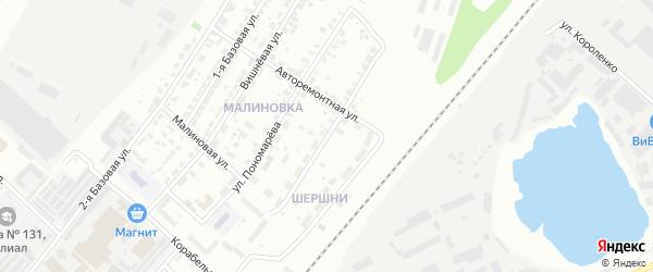 Улица Неймана на карте Челябинска с номерами домов