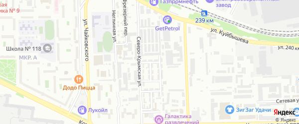 Свинцовый 1-й переулок на карте Челябинска с номерами домов