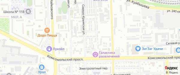 Свинцовый 2-й переулок на карте Челябинска с номерами домов