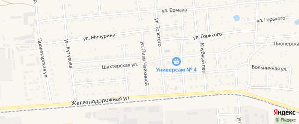 Шахтерская улица на карте Коркино с номерами домов
