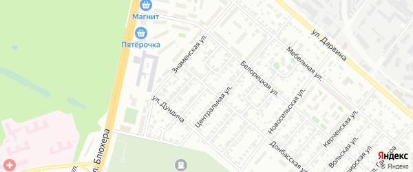 Кубанская улица на карте Челябинска с номерами домов