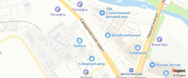 Свердловский тракт на карте Челябинска с номерами домов