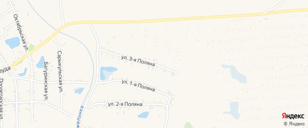 Поляна 3-я улица на карте Еманжелинска с номерами домов