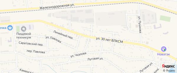 Улица 30 лет ВЛКСМ на карте Коркино с номерами домов