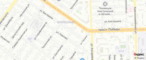 Улица Кислицина на карте Челябинска с номерами домов