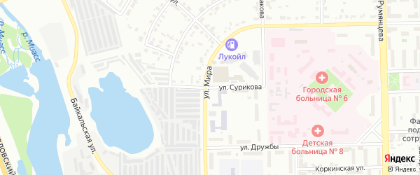 Улица Сурикова на карте Челябинска с номерами домов