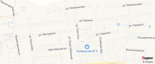 Улица Толстого на карте Коркино с номерами домов