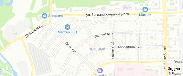 Улица Цветочный Тупик на карте Челябинска с номерами домов