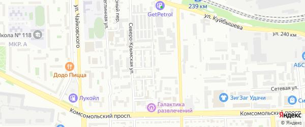 Обдорский 4-й переулок на карте Челябинска с номерами домов