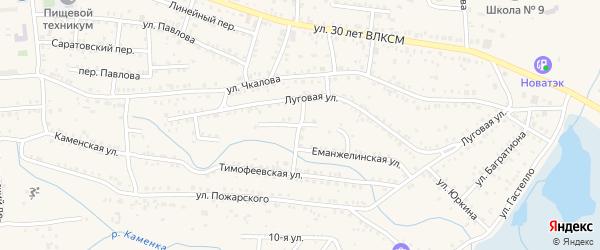 Сосновая улица на карте Коркино с номерами домов