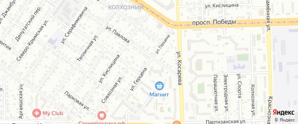 Улица Герцена на карте Челябинска с номерами домов