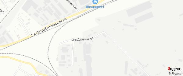 Дальняя 2-я улица на карте Челябинска с номерами домов
