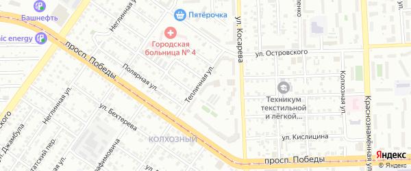 Территория Гаражи Тепличная ул у дома 3 на карте Челябинска с номерами домов