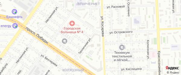 Улица Маяковского на карте Челябинска с номерами домов
