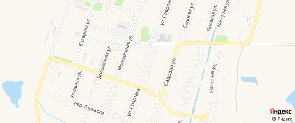 Улица Спартака на карте Еманжелинска с номерами домов