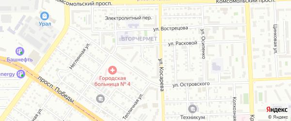 Тихвинская улица на карте Челябинска с номерами домов