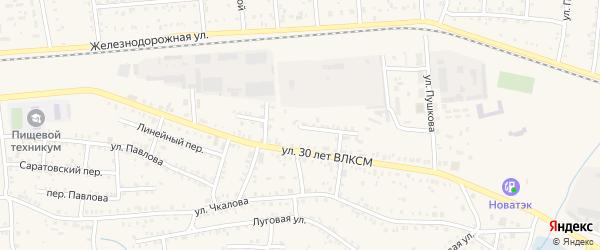 Миасская улица на карте Коркино с номерами домов