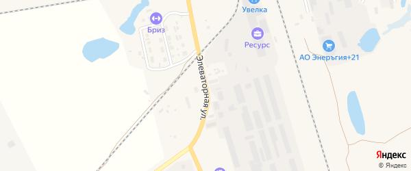 Элеваторная улица на карте Увельского поселка с номерами домов