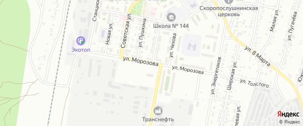 Улица Морозова (Исаково) на карте Челябинска с номерами домов