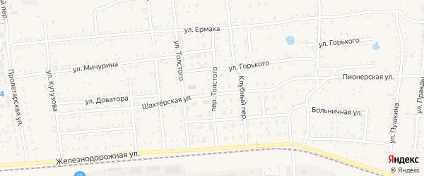 Переулок Толстого на карте Коркино с номерами домов