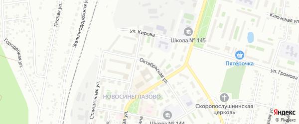 Улица Октябрьская (Новосинеглазово) на карте Челябинска с номерами домов