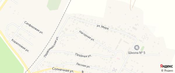 Нагорная улица на карте Полевого поселка с номерами домов