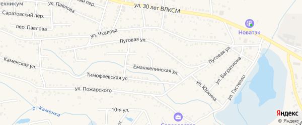 Переулок Связи на карте Коркино с номерами домов