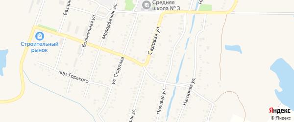 Садовая улица на карте поселка Борисовки с номерами домов