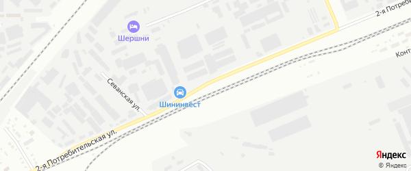 Потребительская 2-я улица на карте Челябинска с номерами домов