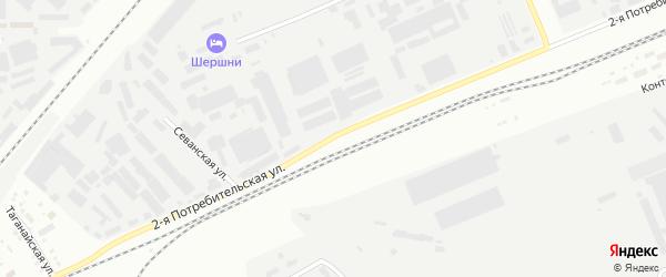 Сад СНТ Авиатор-2 улица 2 на карте Челябинска с номерами домов