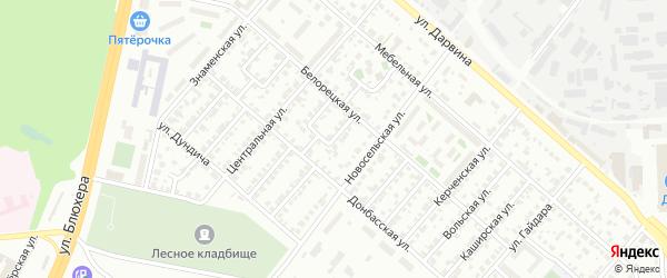 Кизильская улица на карте Челябинска с номерами домов