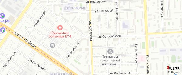Улица Косарева на карте Челябинска с номерами домов