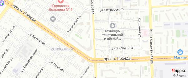 Полярная улица на карте Челябинска с номерами домов