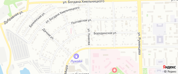 Улица Ушакова на карте Челябинска с номерами домов